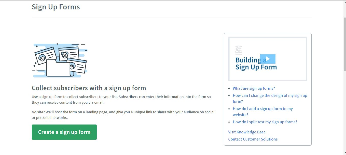 create sign up form