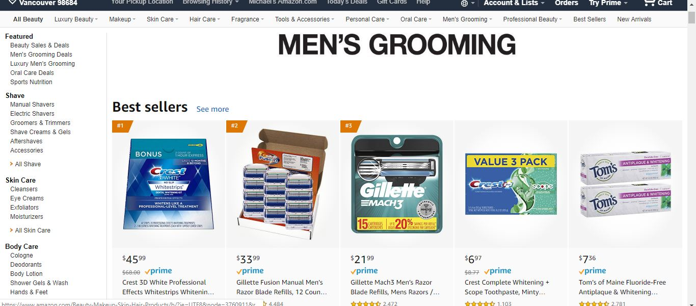mens grooming products