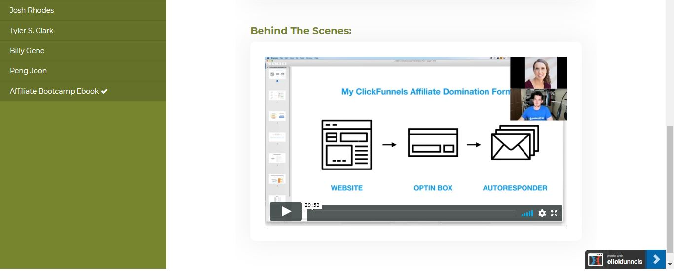 greg jeffries behind the scenes access affiliate bootcamp video on clickfunnels affiliate