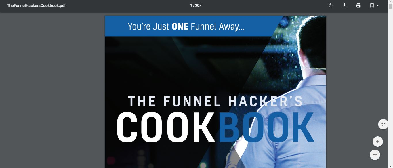 307 pages of the cookbook funnel builder