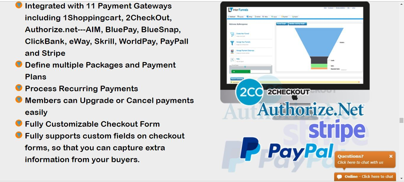 interfunnels payment processors