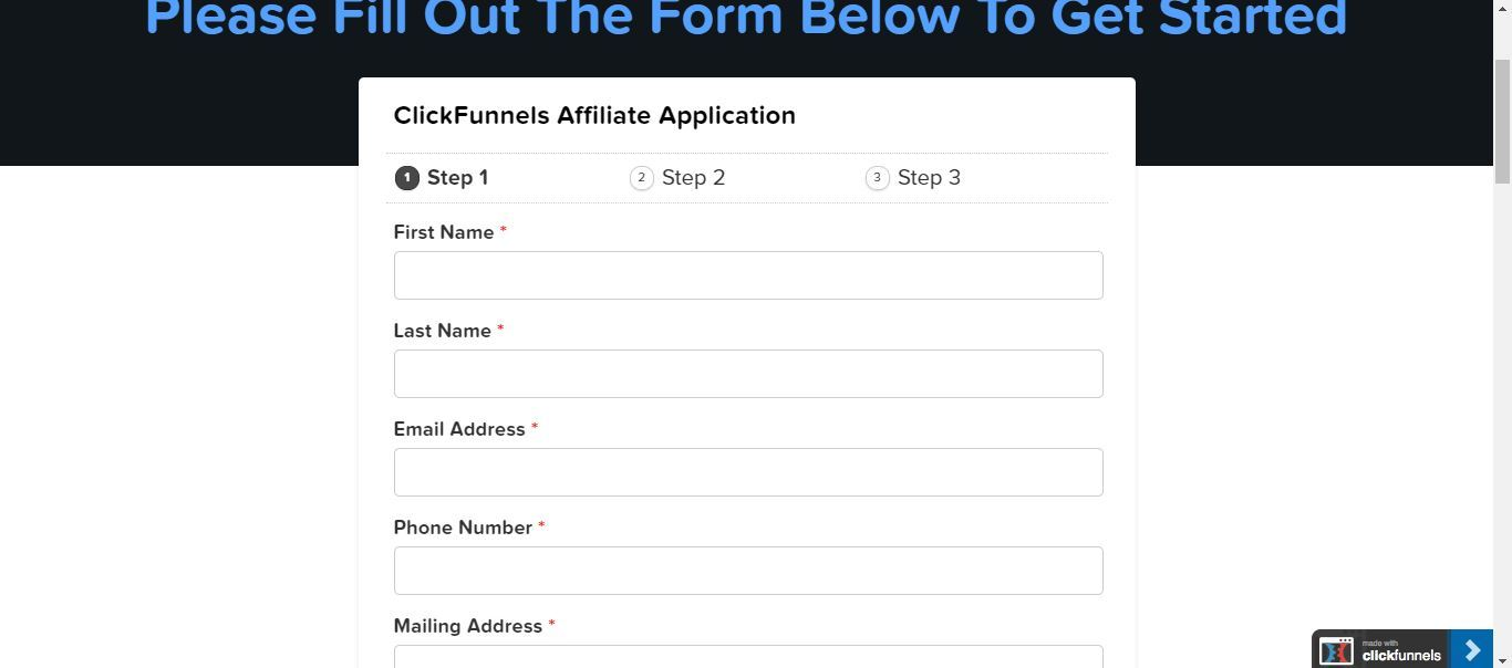 apply to be a clickfunnels affiliate