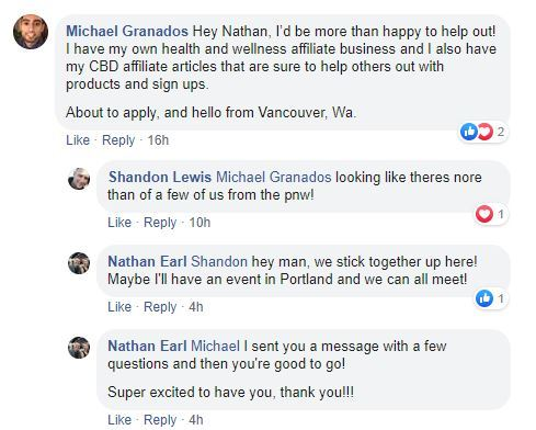white wolf cbd affiliate facebook messages
