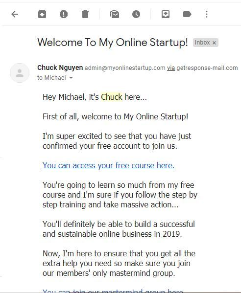 My Online Startup sign in