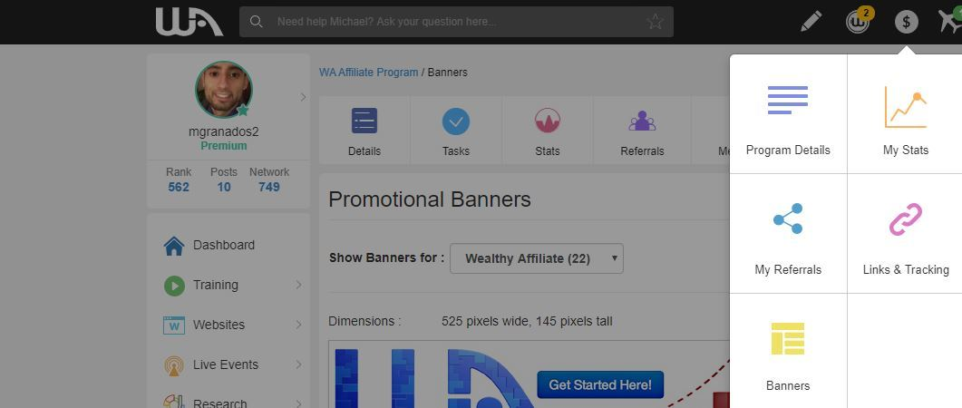 wealthy affiliate referral links