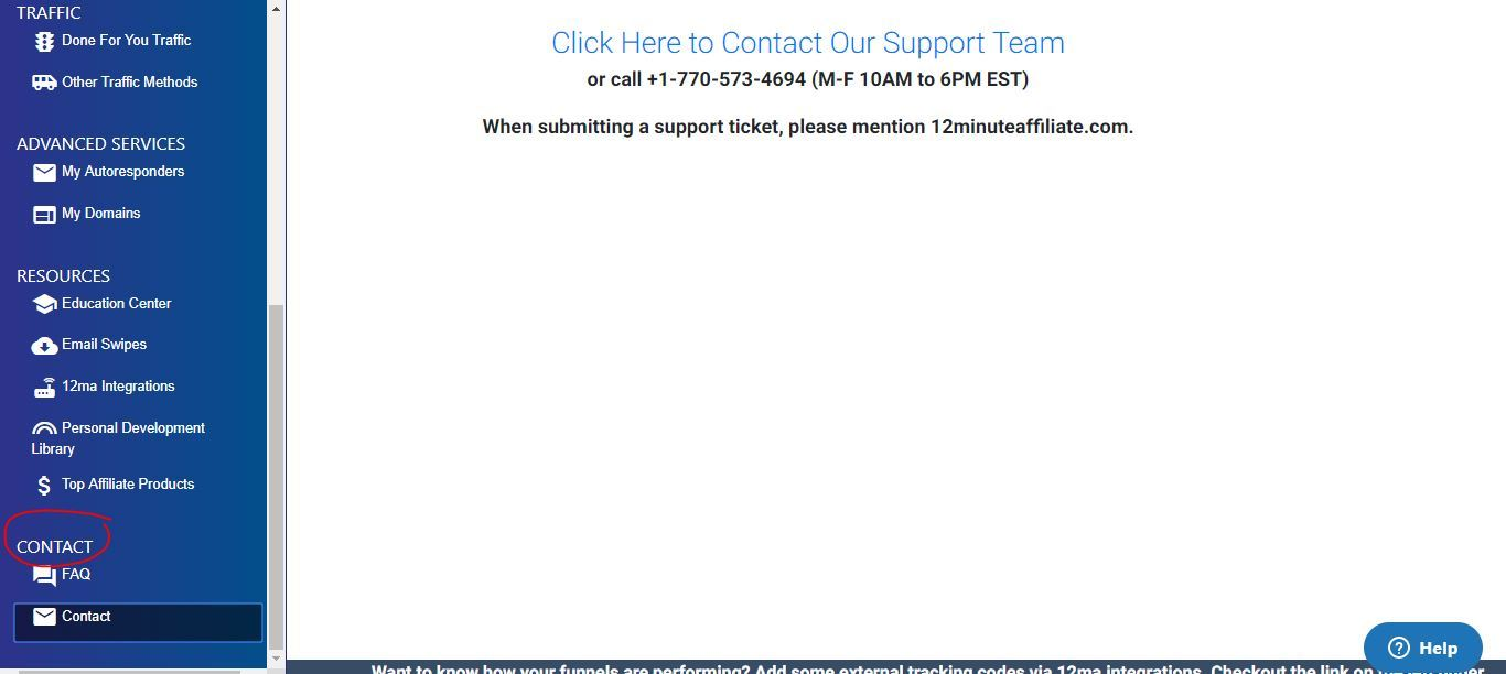 12 minute affiliate contact