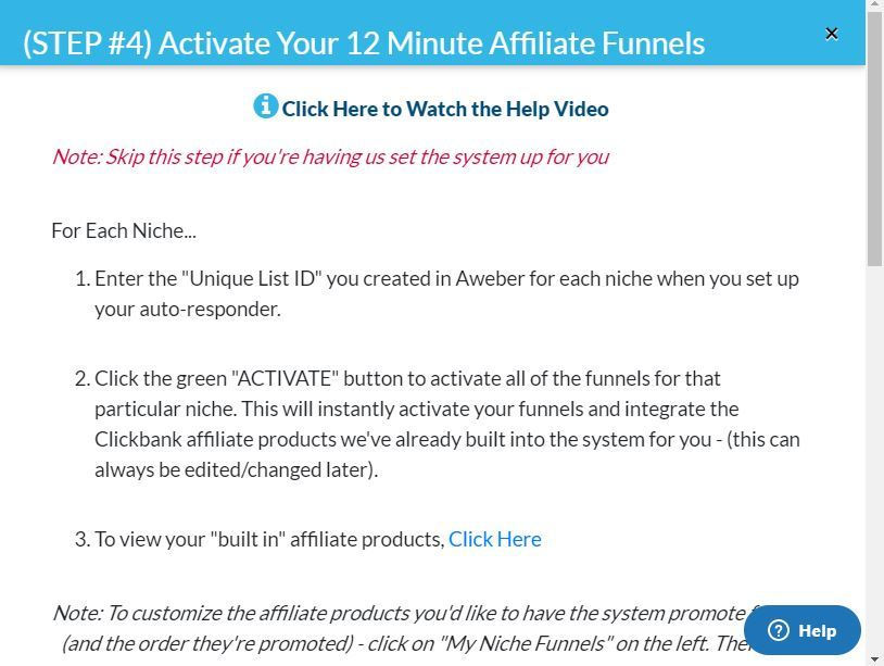12 minute affiliate done for you funnels