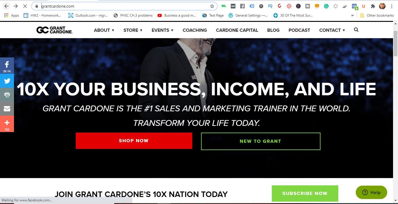 grant cardone home page