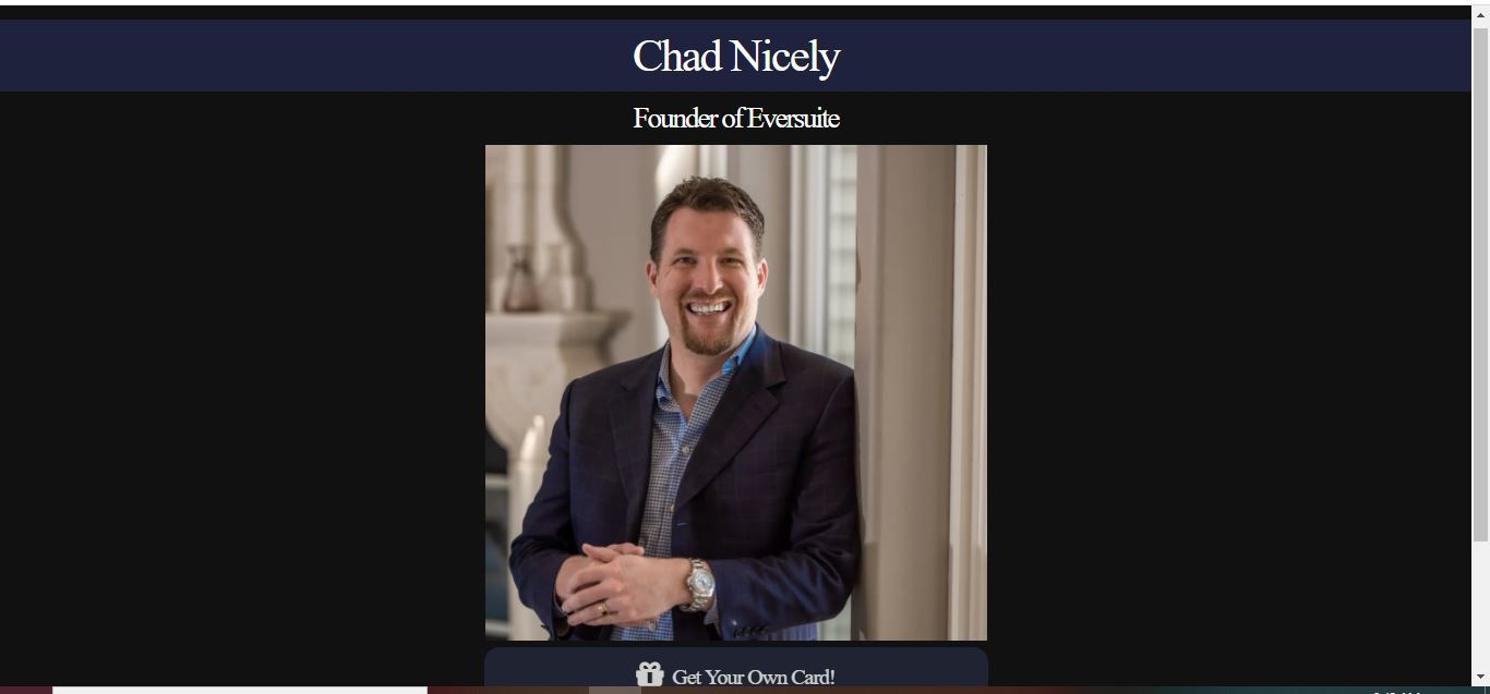 chad nicely business card