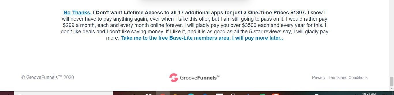 groovefunnels no thanks
