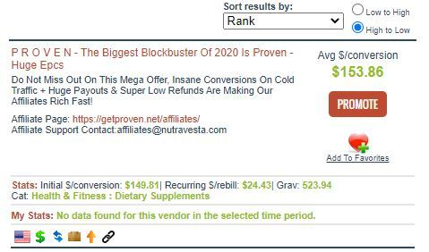 product selection clickbank