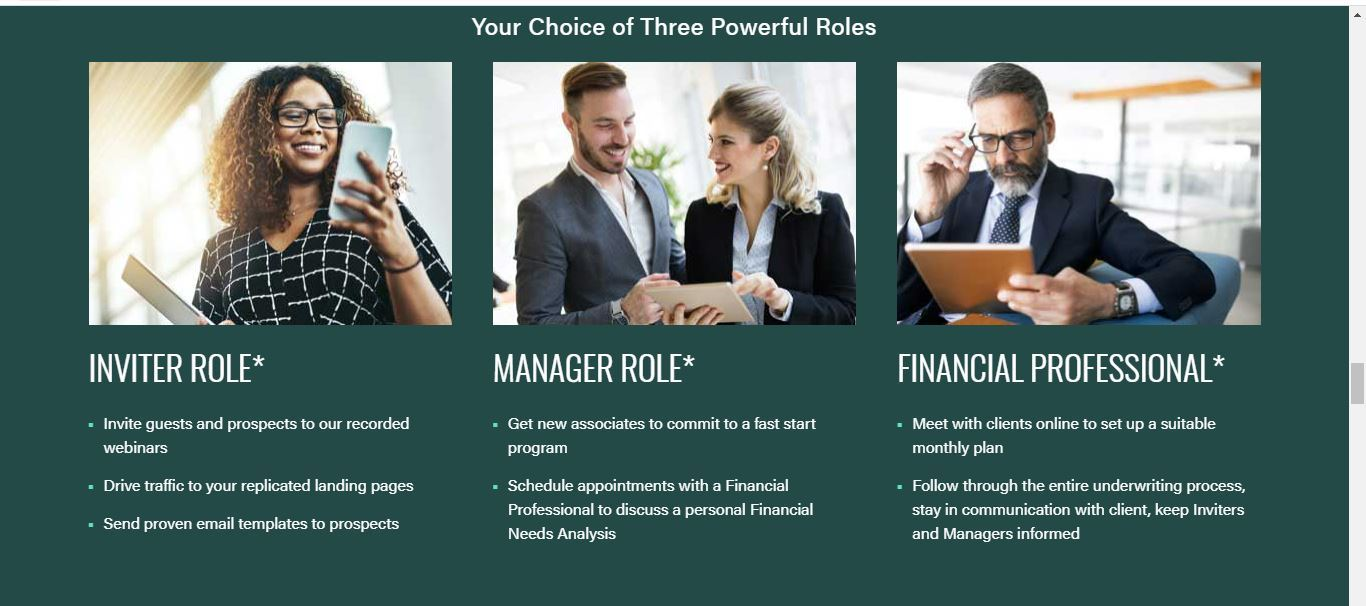 virtual financial group roles