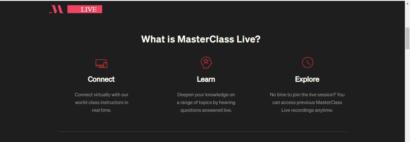 what is masterclass live