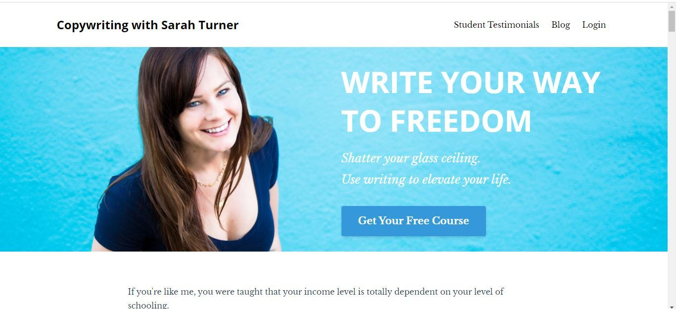 write your way to freedom sign up