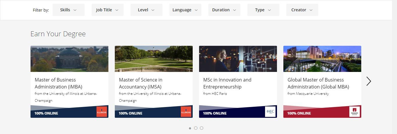 coursera earn your degree