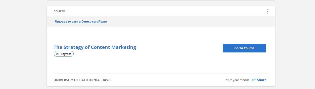 coursera strategy of content marketing