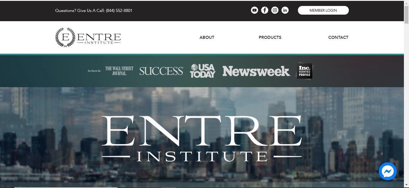 entre institute home page