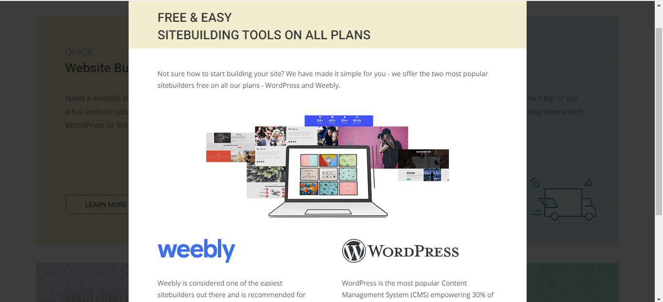 siteground weebly and wordpress