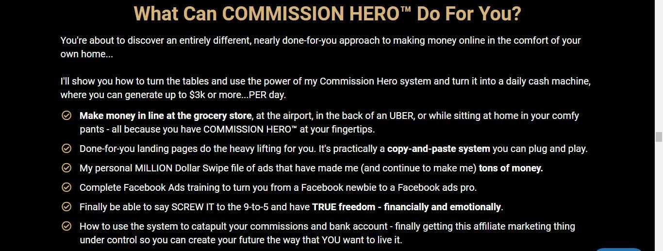 what commission hero can do for you