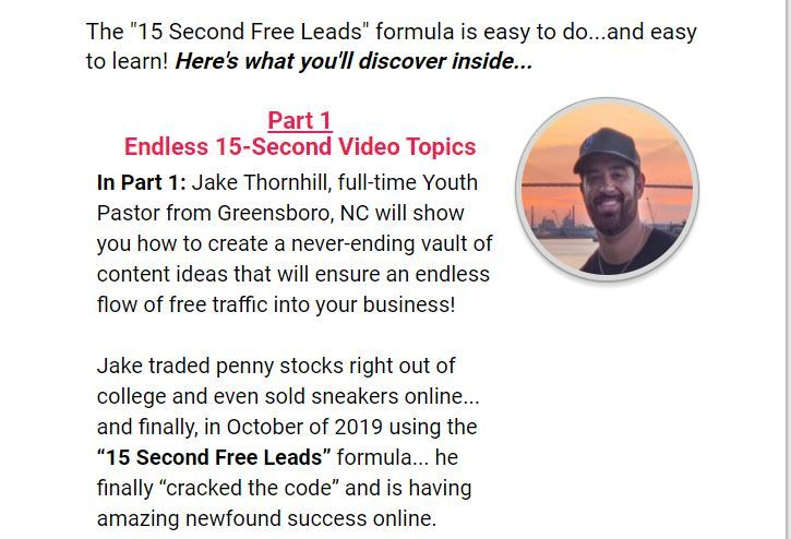 15 second free leads course