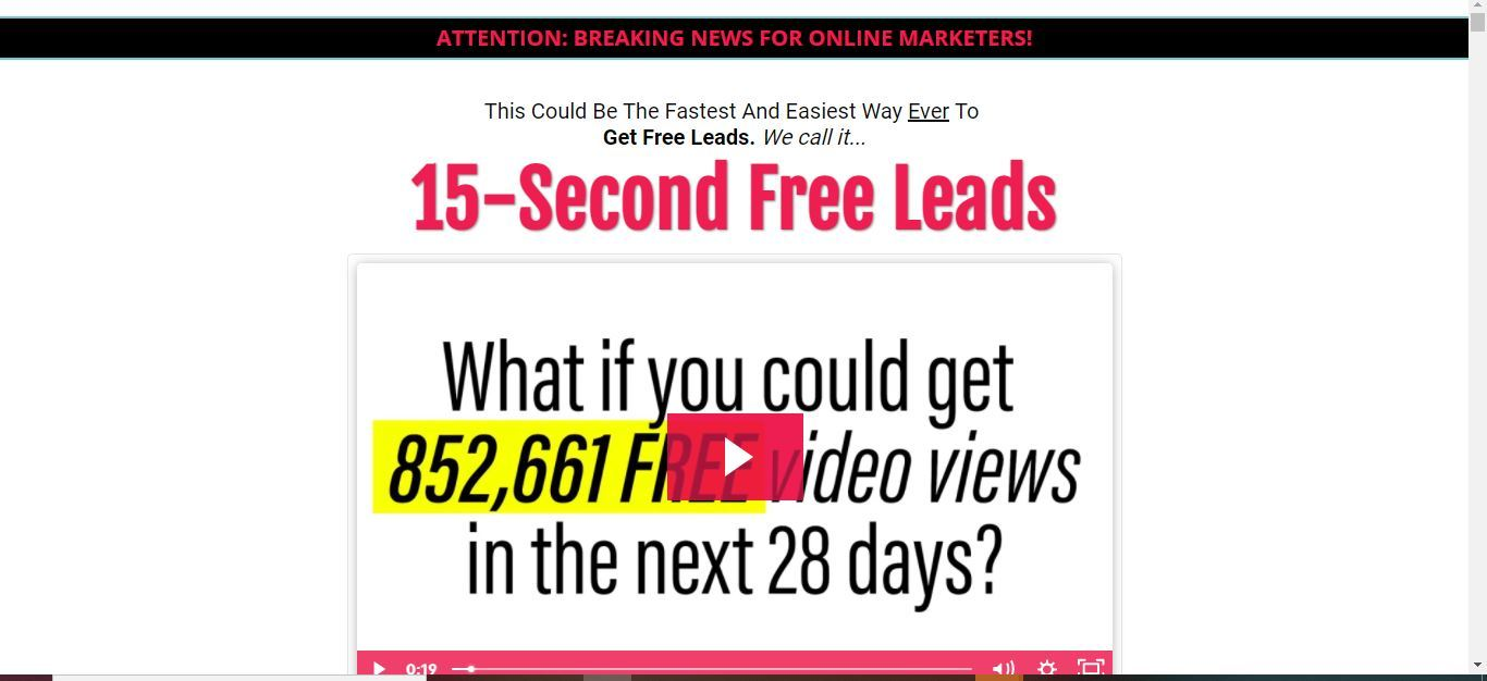 15 second free leads