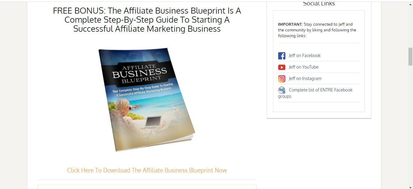 affiliate business blueprint free download