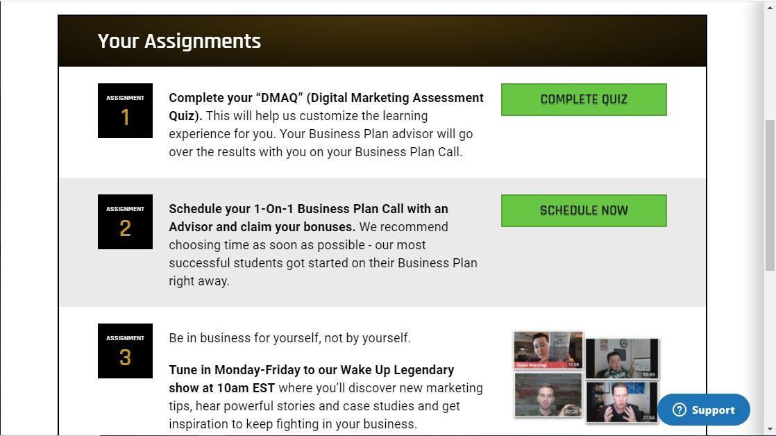 business builder challenge assignments