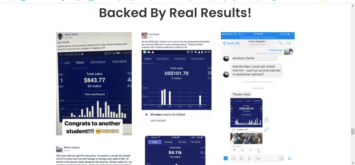ecom elite backed by real results