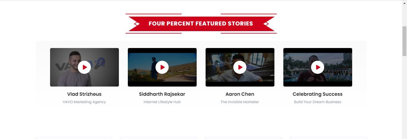 four percent featured stories