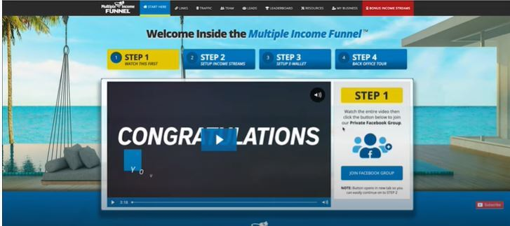 multiple income funnel back office