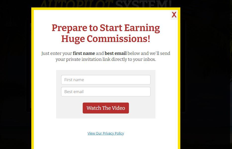 multiple income funnel pop up