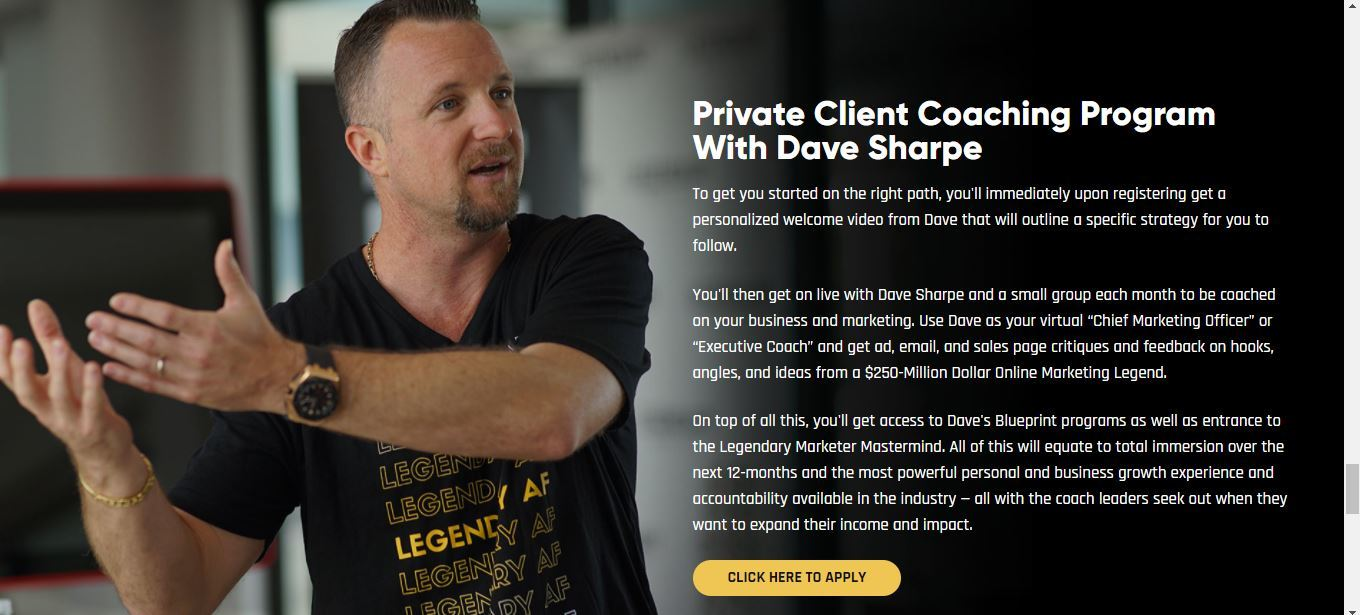 private coaching with davide sharpe