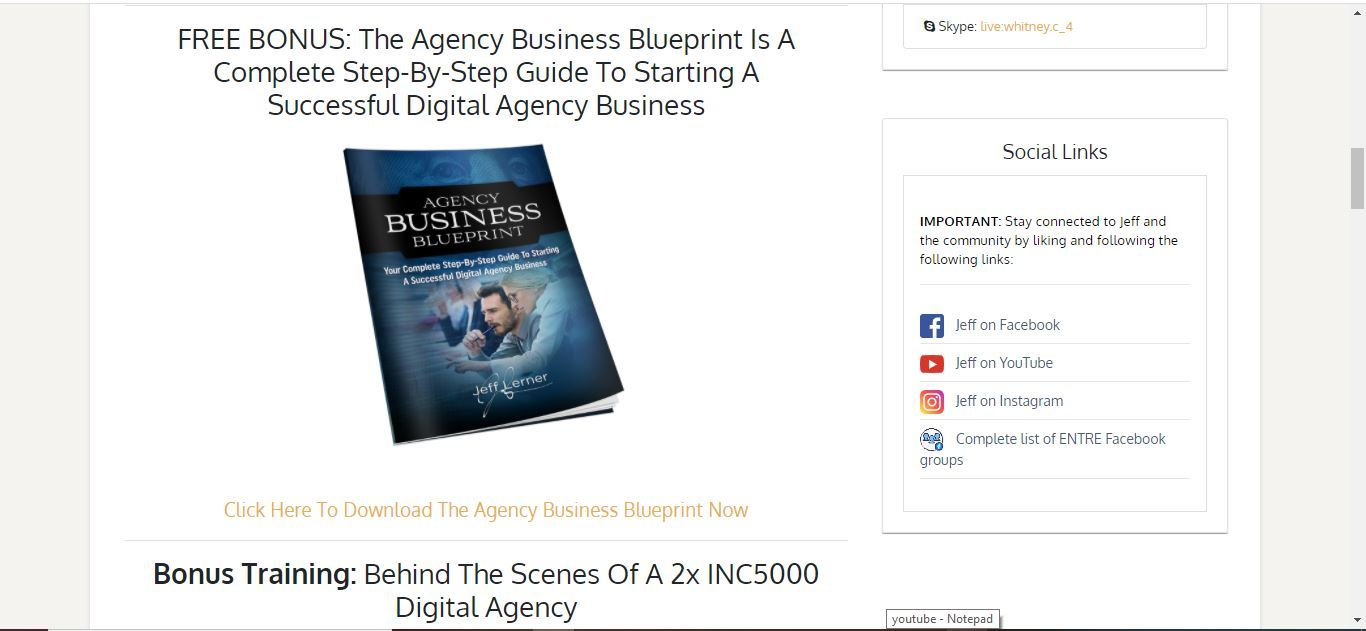 the agency business blueprint entre institute