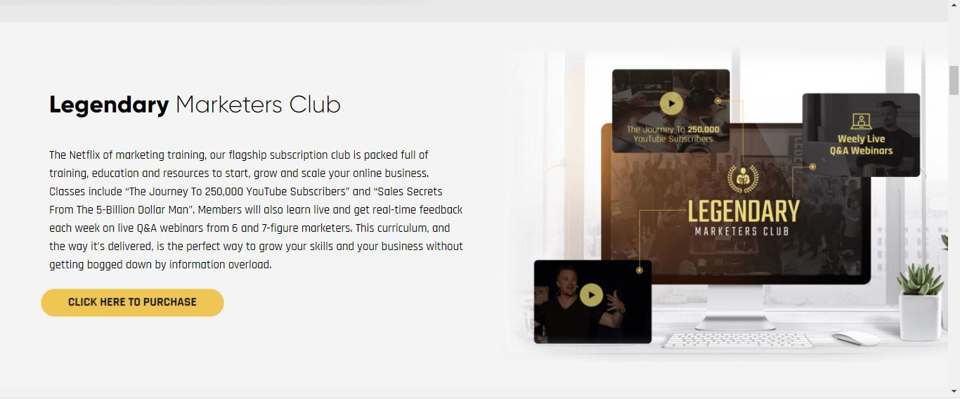 what is legendary marketers club