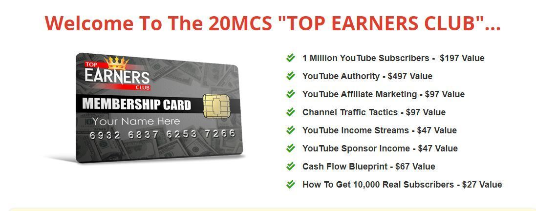 20 minute cash system top earners club
