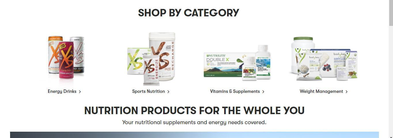 amway nutrition category