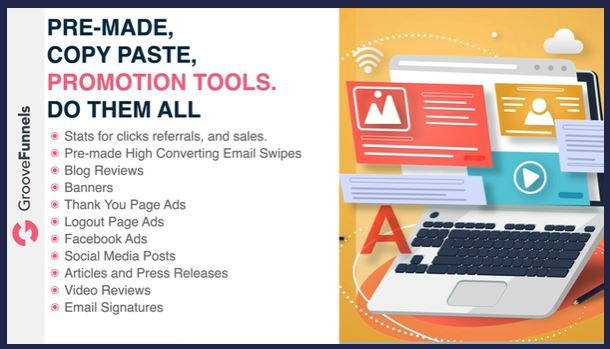groove funnels promotional tools