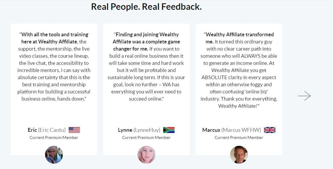 wealthy affiliate results