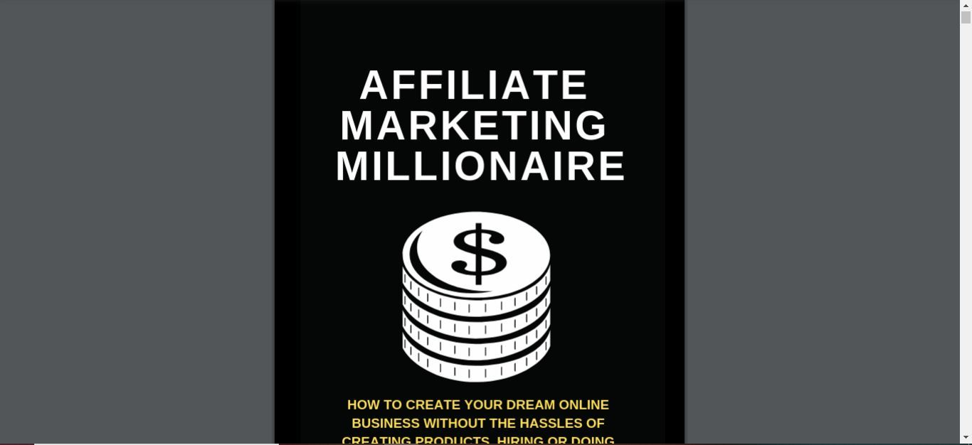 what is affiliate marketing millionaire