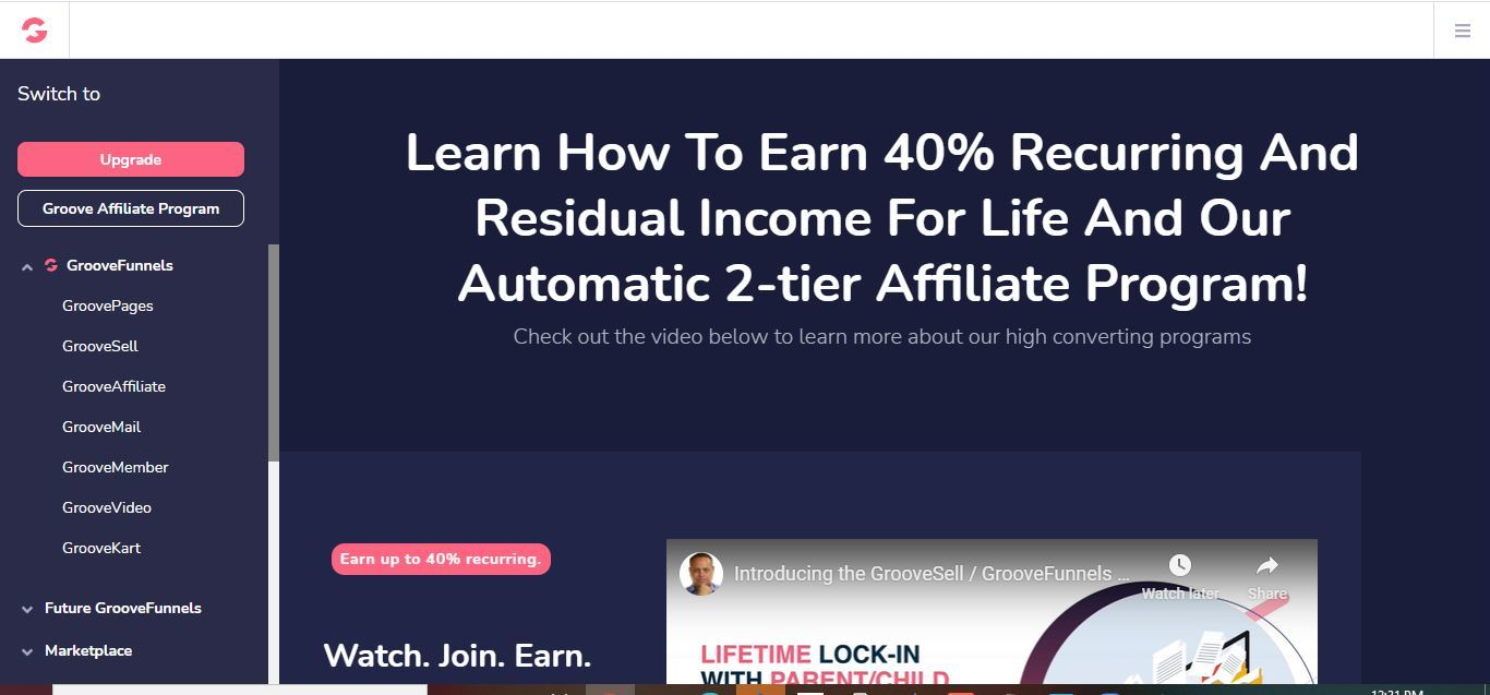 why groovefunnels affiliate program