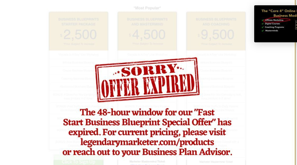 business expired