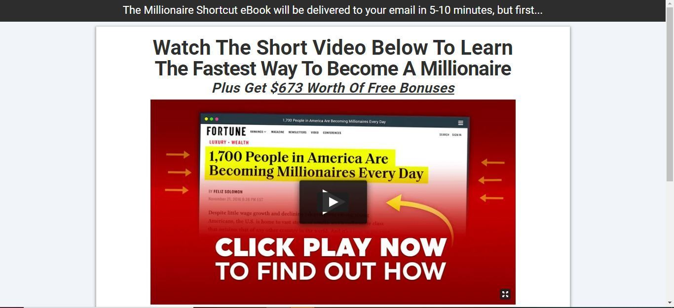 fastest way to becoming a millionaire