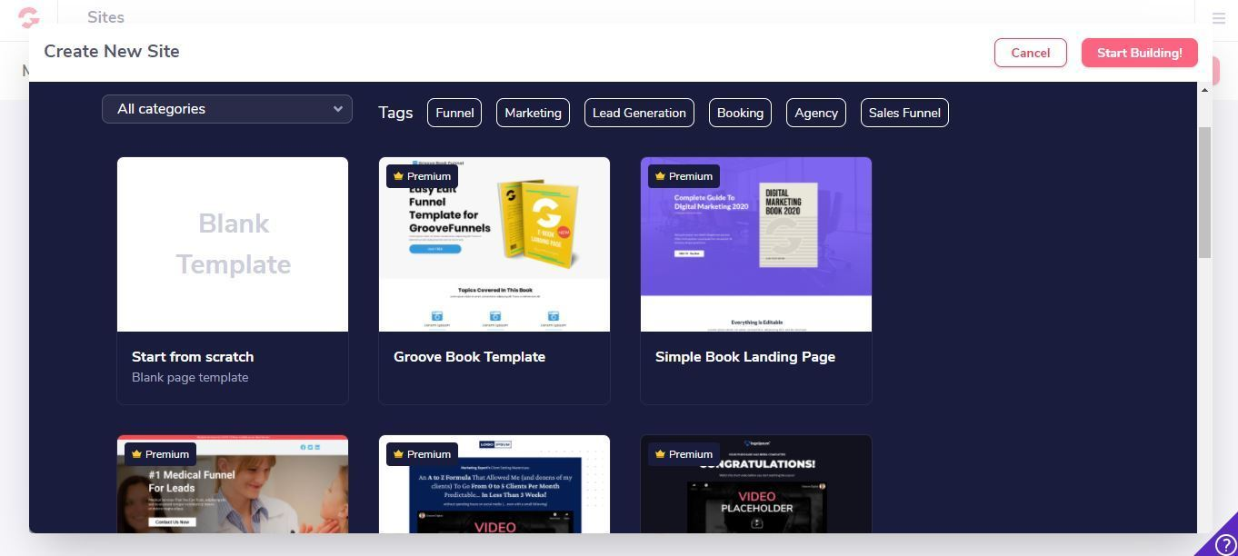 groovepage templates