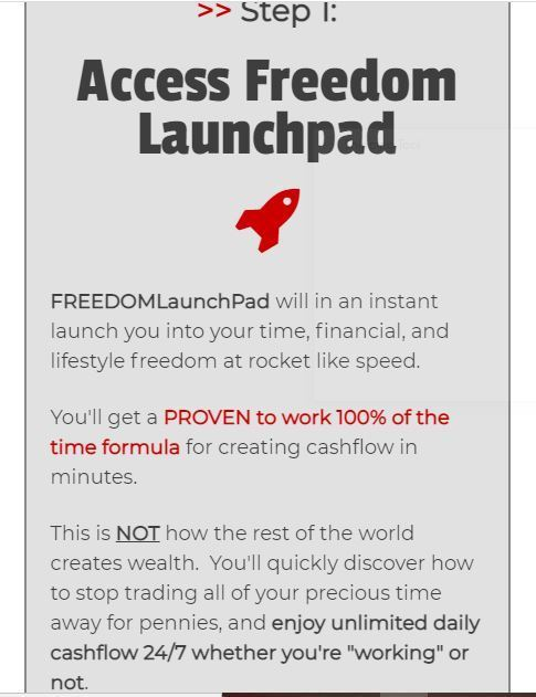 how does freedom launchpad work