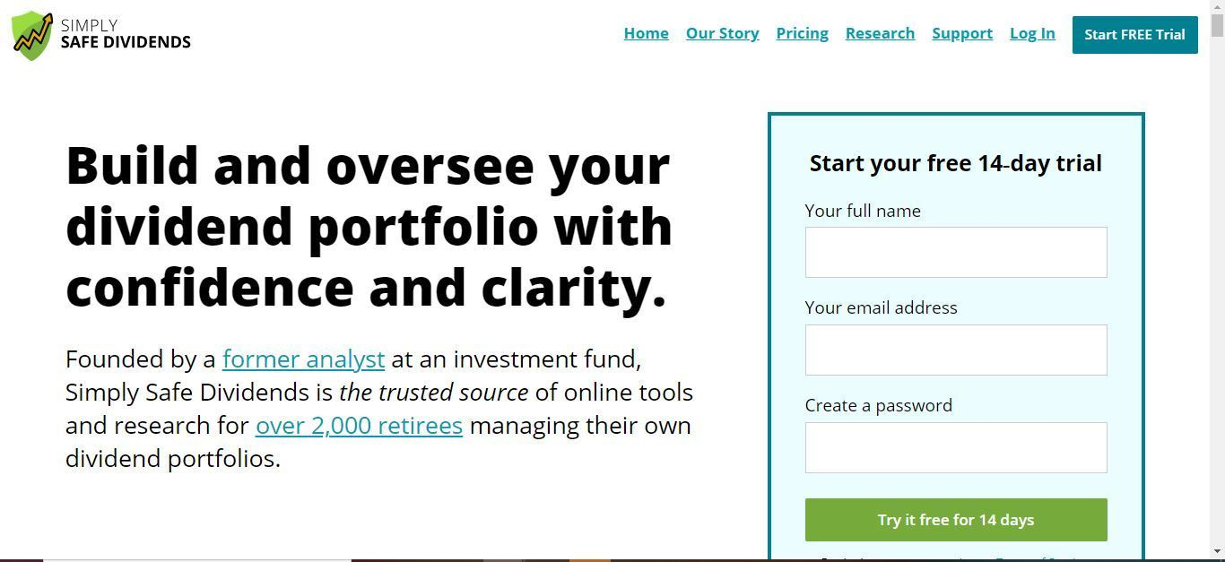 simply safe dividends free trial