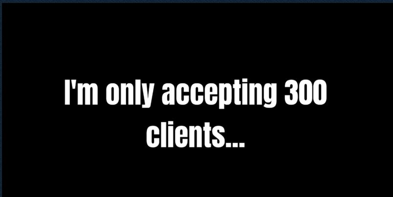website atm accepting 300 clients