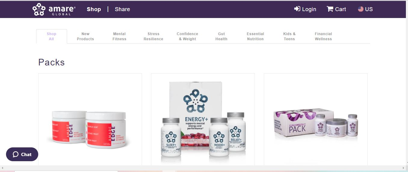 amare global products