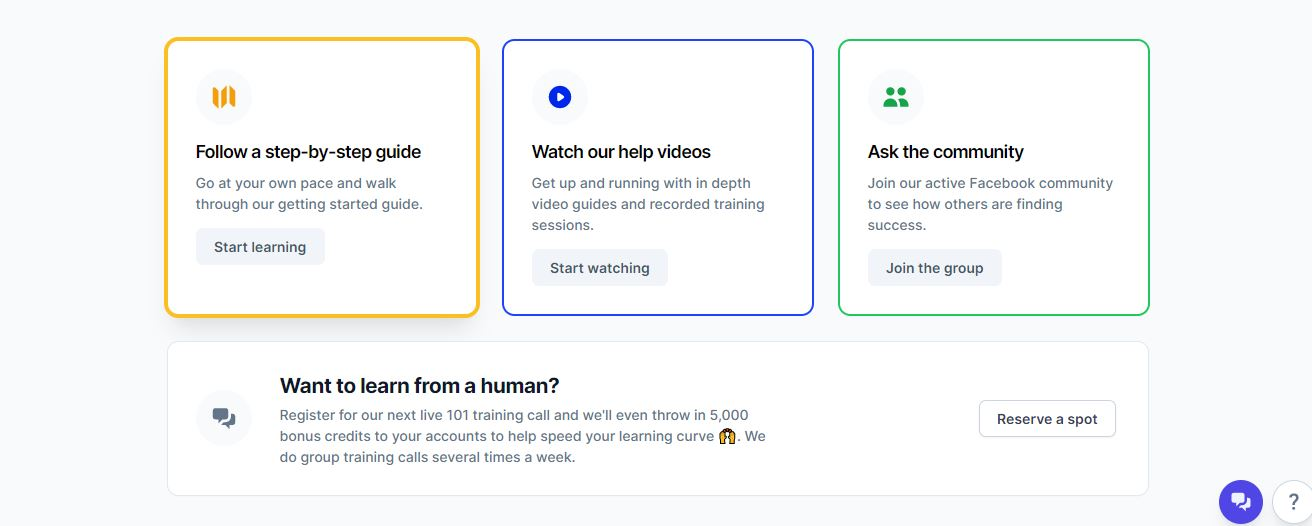 conversion.ai learning steps