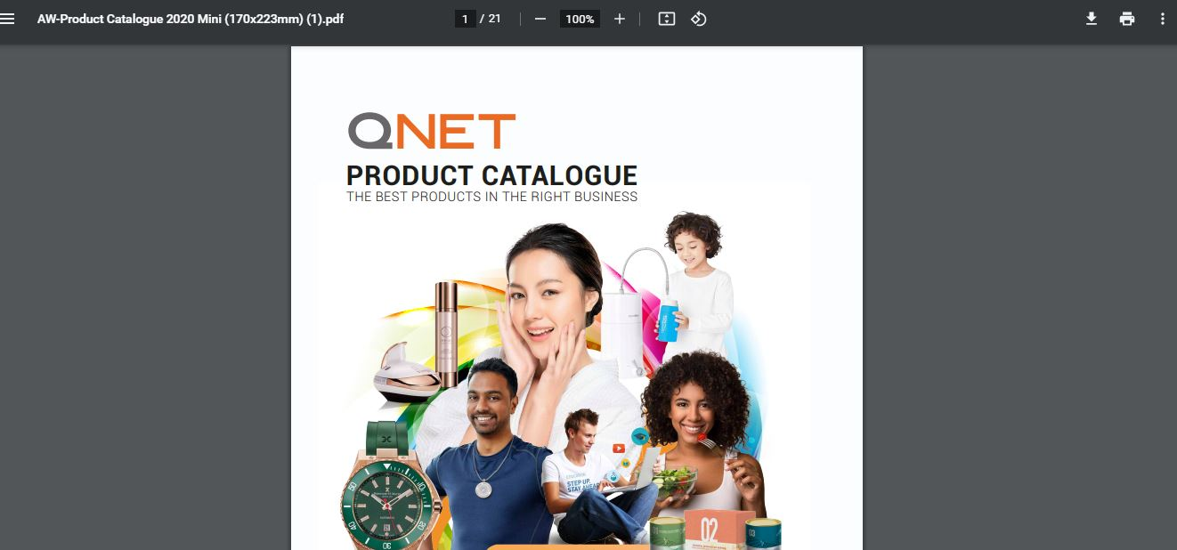 qnet product inside
